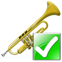 instrument, Arrow, next, ok, Trumpet, right, yes, Forward, correct Black icon