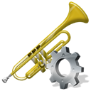 preference, configuration, Configure, option, Setting, Trumpet, config, instrument Black icon
