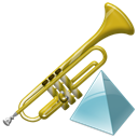 Trumpet, level, instrument Black icon