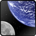 And, Moon, world, globe, earth, planet DarkSlateGray icon