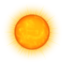 weather, sun, climate, nature Orange icon