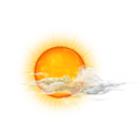 weather, Cloudy, climate, nature, daytime Orange icon