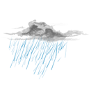 weather, drizzle, nature, climate DarkCyan icon