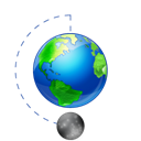 phase, planet, earth, Moon, world, globe, Full Black icon