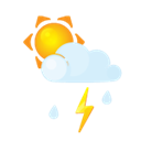 Rain, littlecloud, sun, Flash Black icon