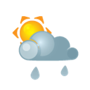 heavyrain, sun, darkcloud Black icon