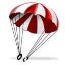 aviation, Parachute Black icon