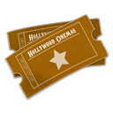 Ticket, hollywood SaddleBrown icon