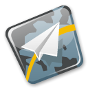 flight, tracker Black icon