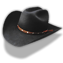 Cowboy, hat, Black Black icon