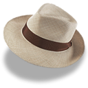 hat, linen, trilby Black icon