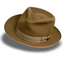 suede, hat, Fedora Black icon