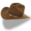 hat, Cowboy, Brown Black icon