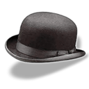 Bowler, hat Black icon