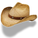 straw, hat, Cowboy Black icon