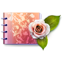 Catalog, Carnet, love, rose, plant, valentine, Flower, lovely Black icon