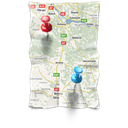 Contact, location, Map, Gps LightGray icon