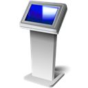 Display, screen, monitor, kiosk, touch Black icon