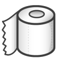 document, File, paper, toilet Black icon