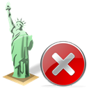 no, Estatuadelalibertad, cancel, Close, stop Black icon
