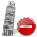 remove, torredepisa, delete, Del Black icon