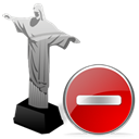 delete, Del, remove, cristoredentor Black icon