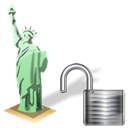 Unlock, Estatuadelalibertad Black icon