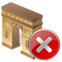 Close, cancel, no, Arcodeltriunfo, stop Black icon