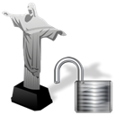 Unlock, cristoredentor Black icon
