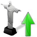 Up, increase, upload, Ascending, Ascend, cristoredentor up, cristoredentor, rise Black icon