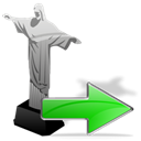 cristoredentor, Arrow, yes, ok, Forward, right, correct, next Icon