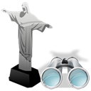search, Find, seek, cristoredentor Black icon