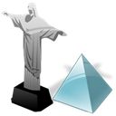 level, cristoredentor Black icon