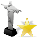 star, bookmark, cristoredentor, Favourite Black icon