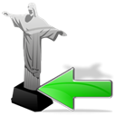previous, cristoredentor, Backward, Arrow, Back, prev, Left Black icon