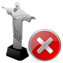 cristoredentor, cancel, no, stop, Close Black icon