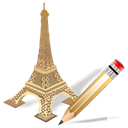 Edit, torreeiffel, writing, write Black icon