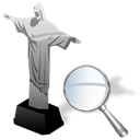 zoom, cristoredentor Black icon