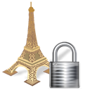 Lock, security, torreeiffel, locked Black icon