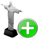 Add, cristoredentor, plus Black icon