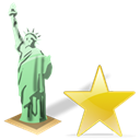 Favourite, star, Estatuadelalibertad, bookmark Black icon