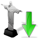 download, Down, descending, Decrease, cristoredentor, Descend, fall Black icon