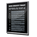 instructions, safety, toilet, gravity, zero DarkSlateGray icon