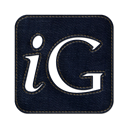 denim, square, Social, igooglr, Logo, jean Black icon