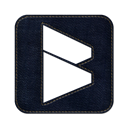 square, blogmarks, denim, Social, Logo, jean Black icon