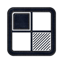 square, Social, Delicious, denim, Logo, jean Black icon