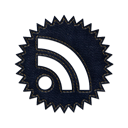 feed, jean, Rss, subscribe, Badge, denim, Social Black icon