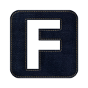 square, Fark, denim, Social, jean Black icon