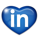 Linkedin SteelBlue icon