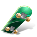 Skateboard Black icon